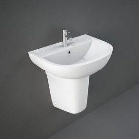 Compact Washbasin + Semi-pedestal
