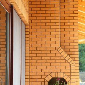 Yellow Wirecut Bricks house